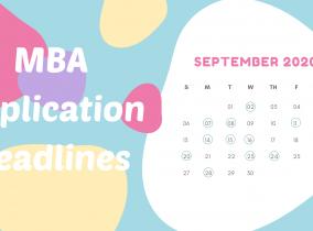 MBA Application Deadlines – September 2020