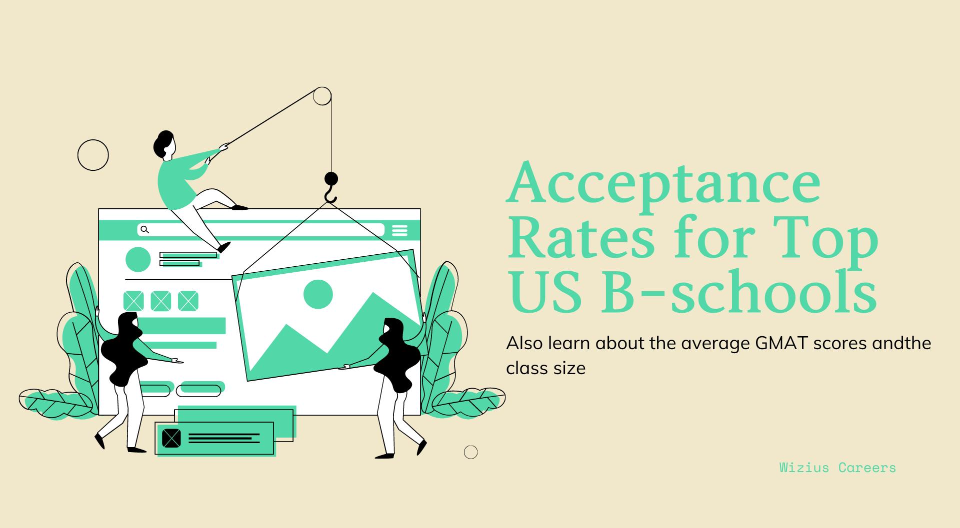 Top 100 US B-schools – Acceptance Rates