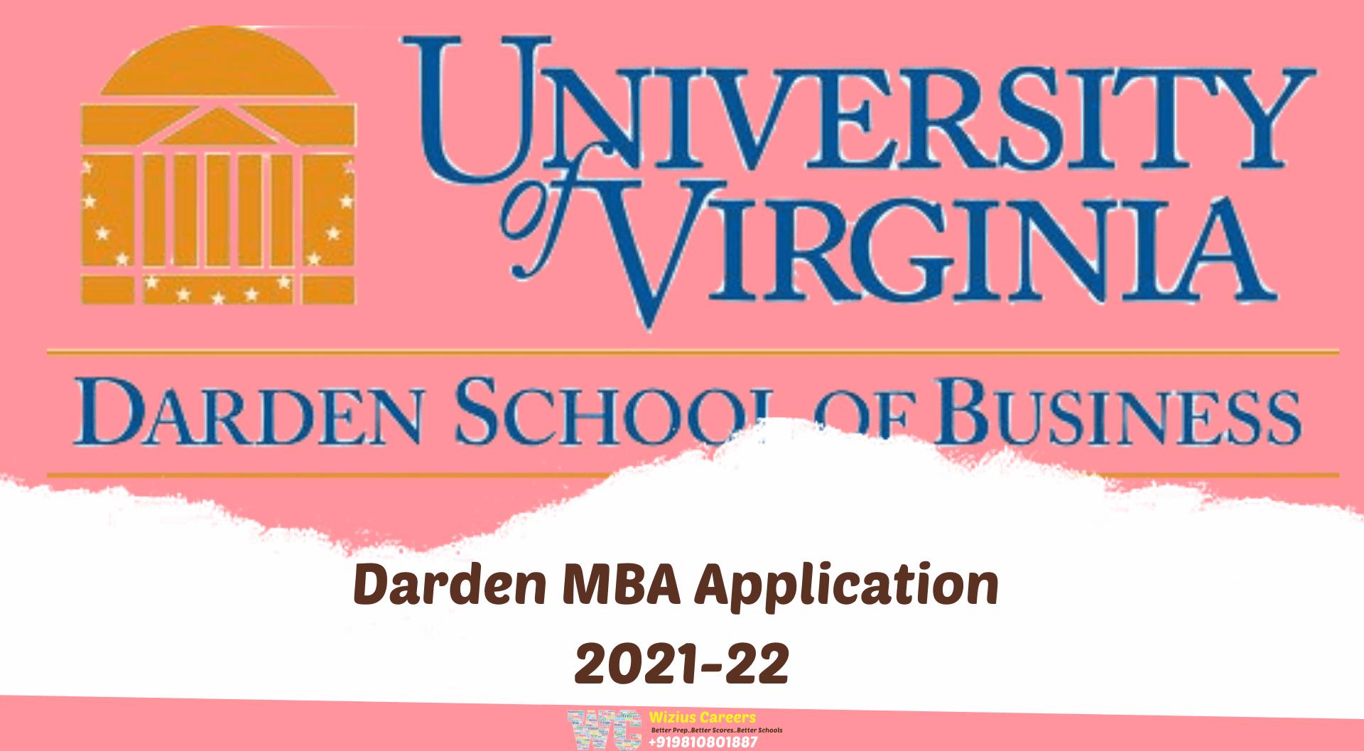 Darden MBA Application 2021-22