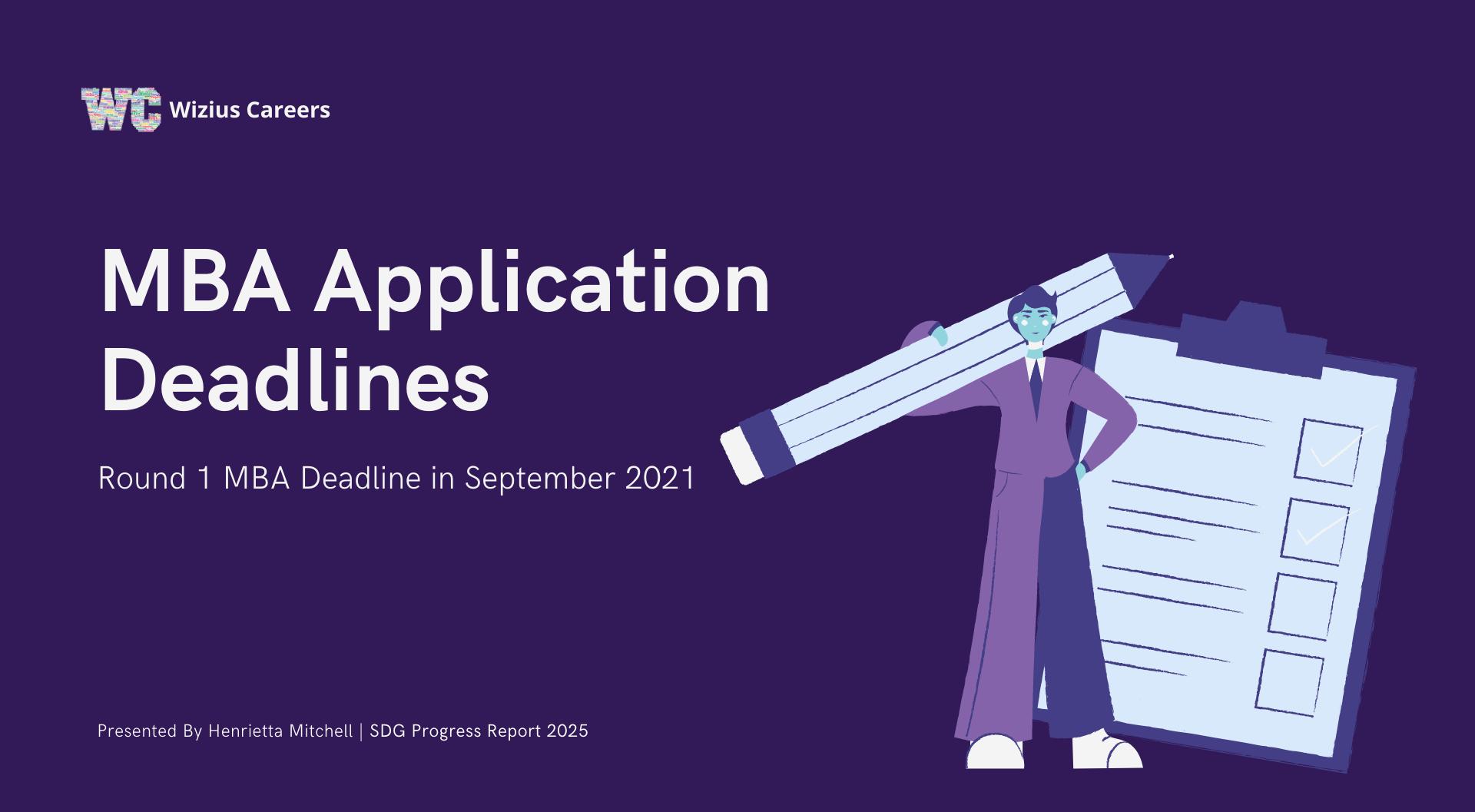 MBA Application Deadlines Round 1