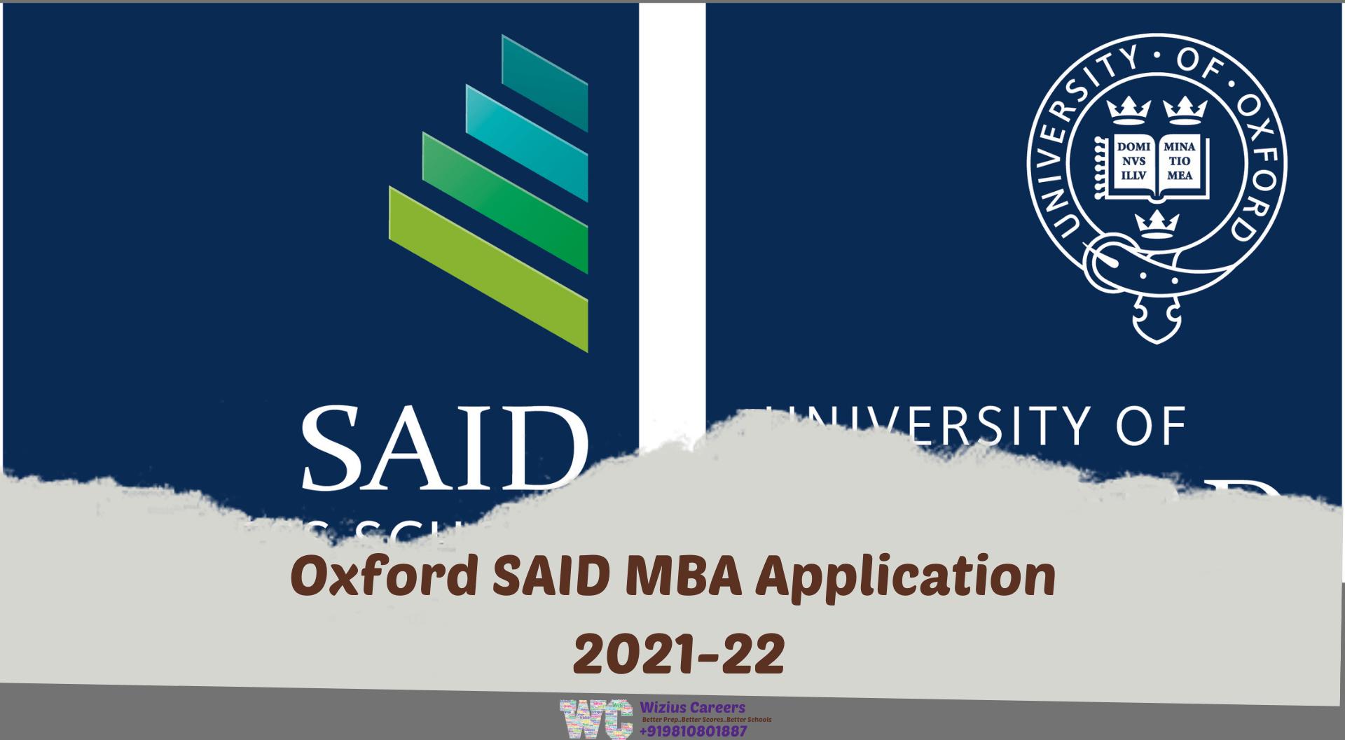 Oxford Said MBA Application 2021-22