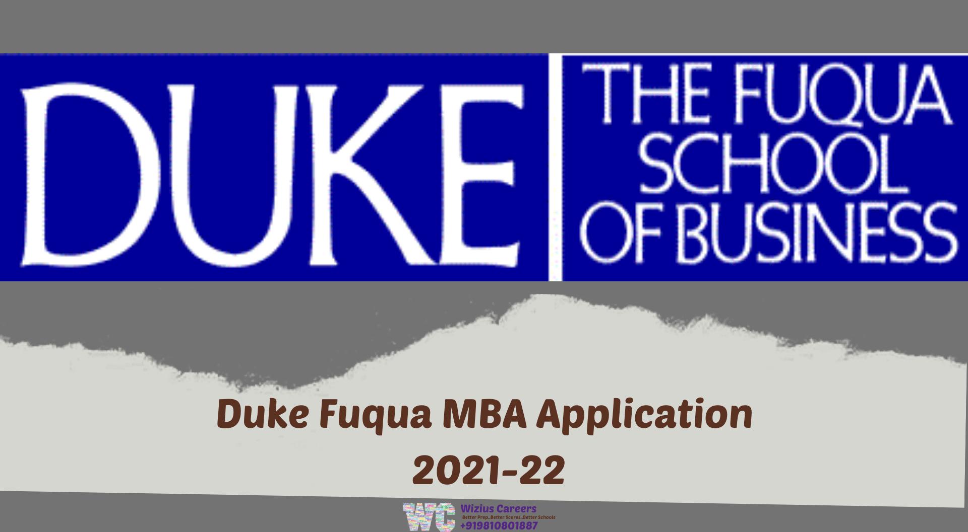 Duke Fuqua MBA Application 2021-22